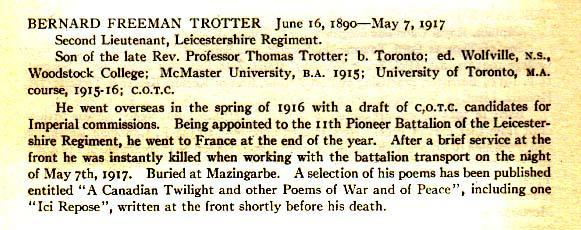 From the University of Toronto Roll of Service, 1914-1918 (1921)
