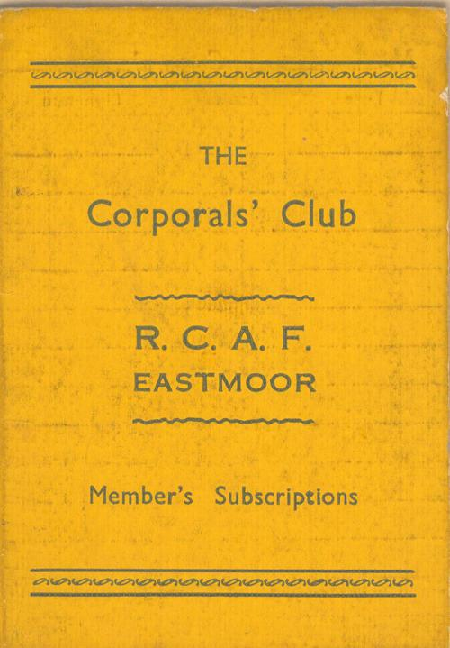 The Corporals' Club, front
