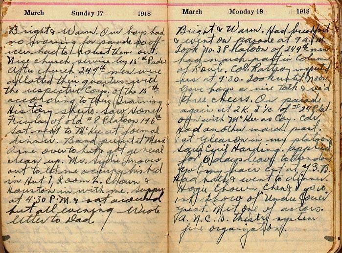 Maharg diary, page 15.