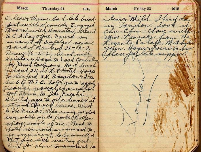 Maharg diary, page 17.