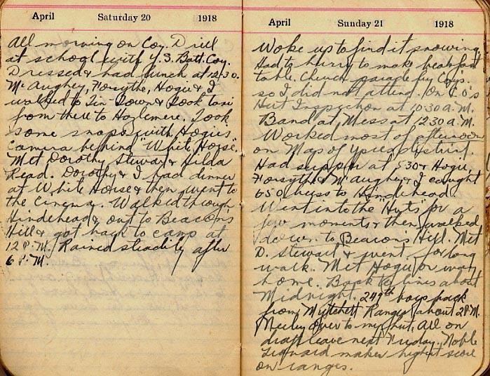 Maharg diary, page 31.