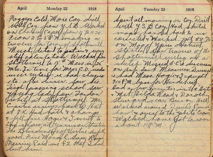 Maharg diary, page 32.