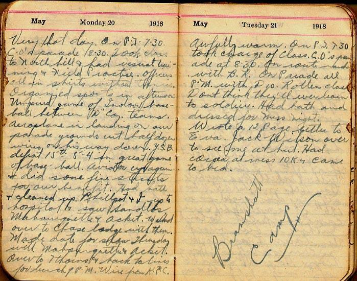 Maharg diary, page 46.