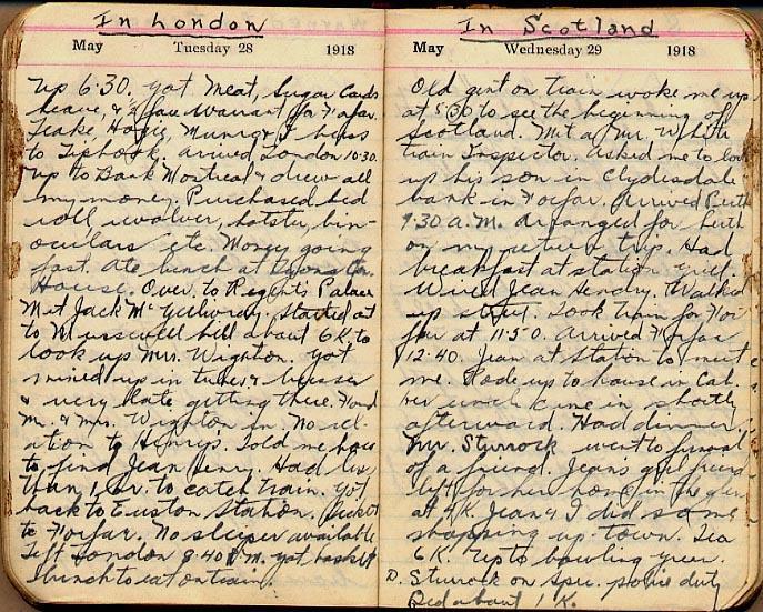 Maharg diary, page 50.