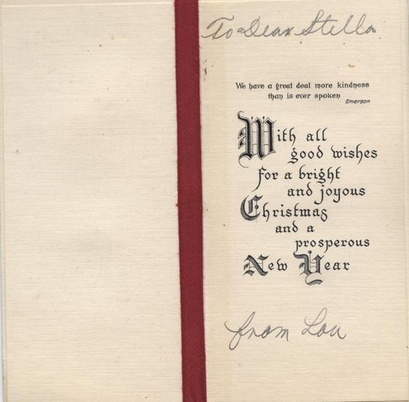 Christmas card, no date, inside