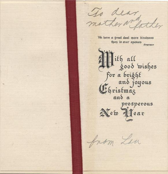 Christmas card, no date, inside