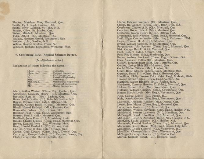 Convocation program, May 12, 1922, 6-7.