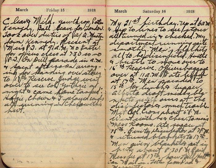 Maharg diary, page 14.