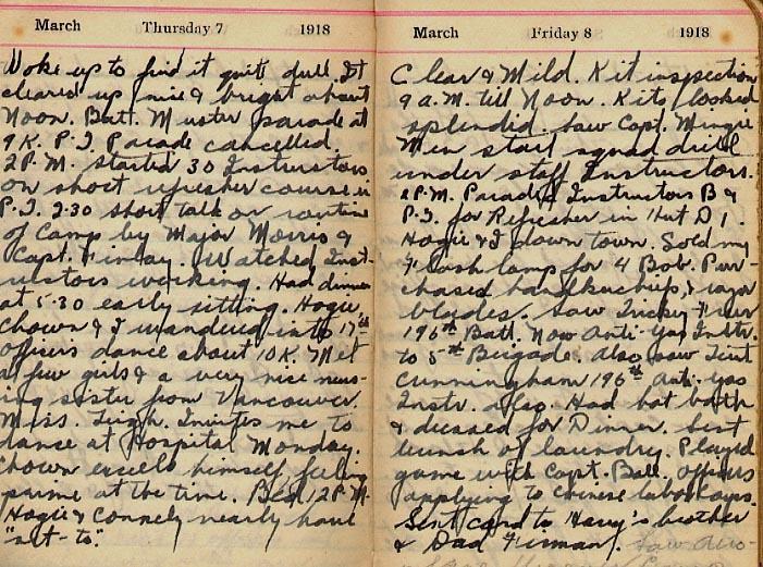 Maharg diary, page 10.