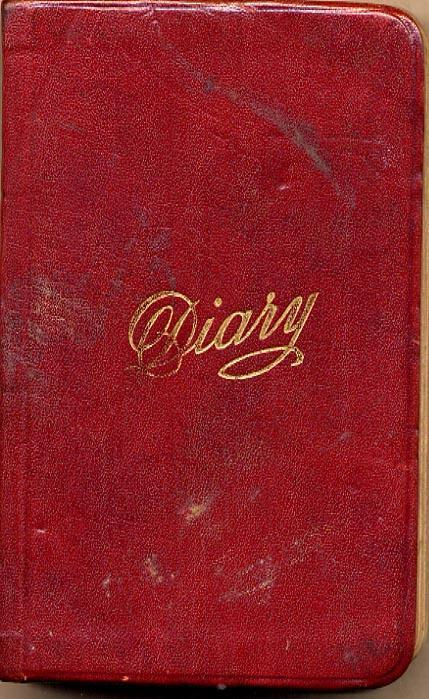 Maharg diary, cover.