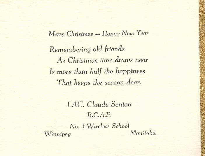 Christmas card 1941 - 2