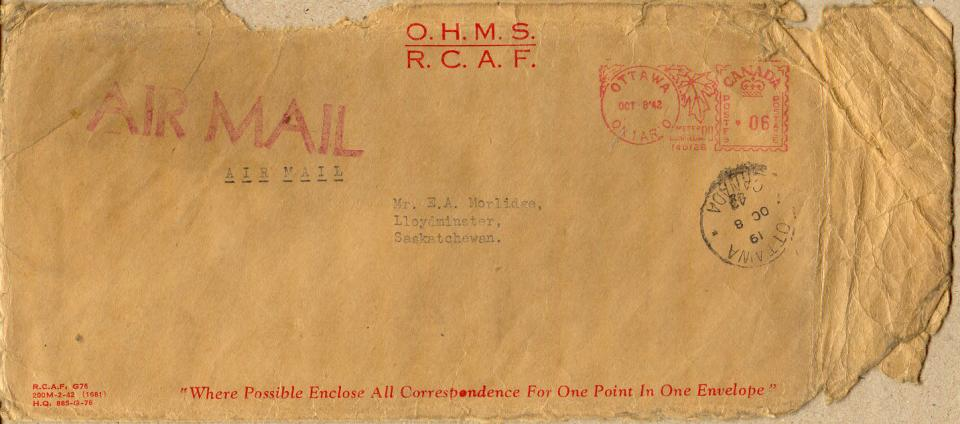 Morlidge Envelope - October 7, 1942