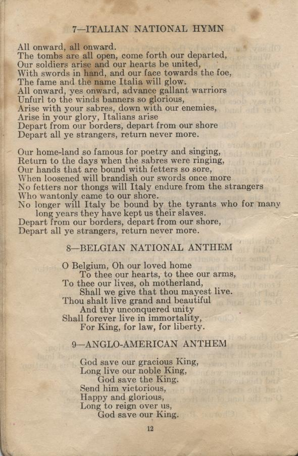 William Daniel Boon. Canadian Soldiers Songbook. Page 12.