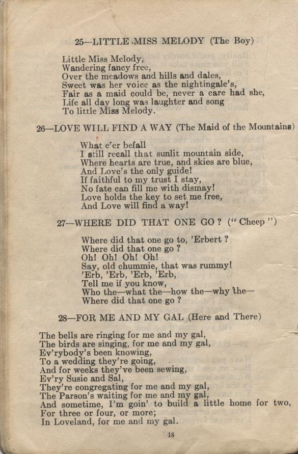 William Daniel Boon. Canadian Soldiers Songbook. Page 18.