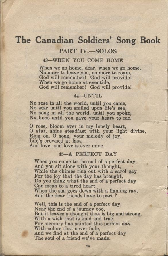 William Daniel Boon. Canadian Soldiers Songbook. Page 24.