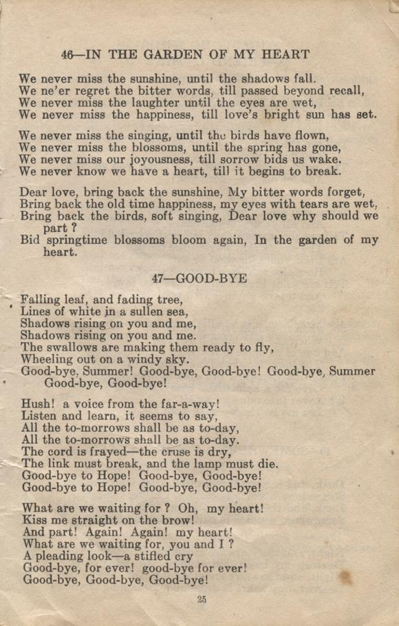William Daniel Boon. Canadian Soldiers Songbook. Page 25.