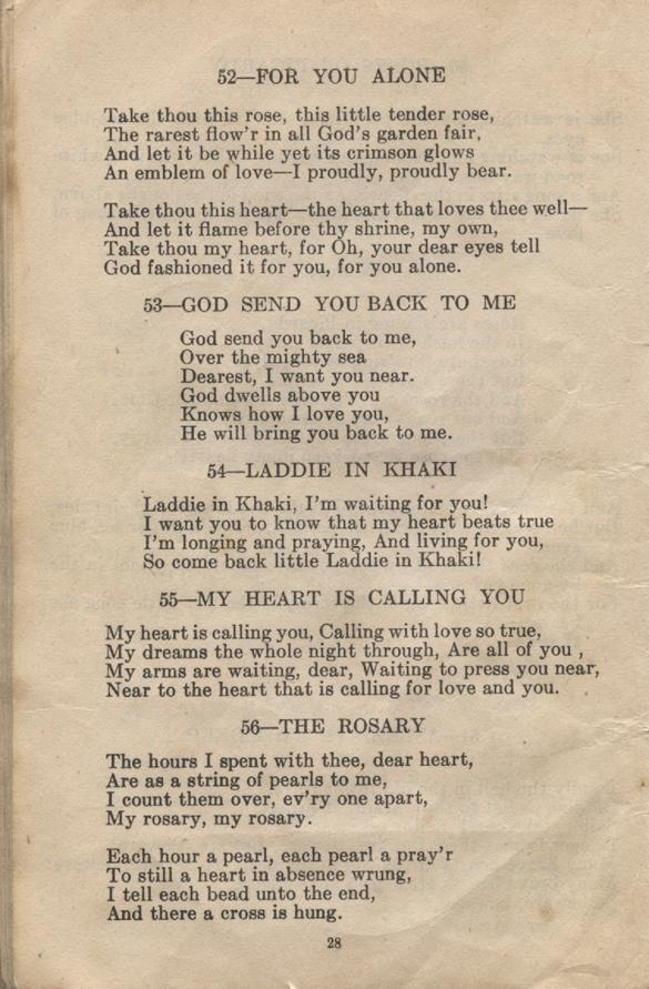 William Daniel Boon. Canadian Soldiers Songbook. Page 28.