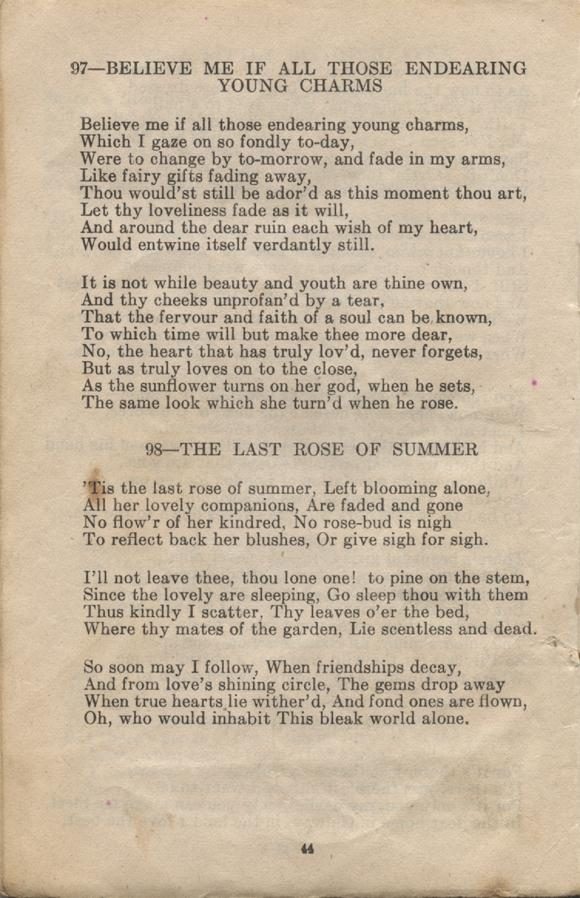 William Daniel Boon. Canadian Soldiers Songbook. Page 44.
