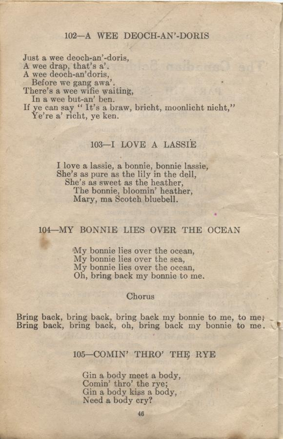 William Daniel Boon. Canadian Soldiers Songbook. Page 46.