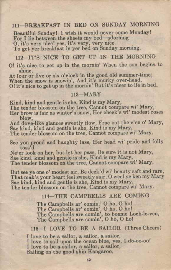 William Daniel Boon. Canadian Soldiers Songbook. Page 49.