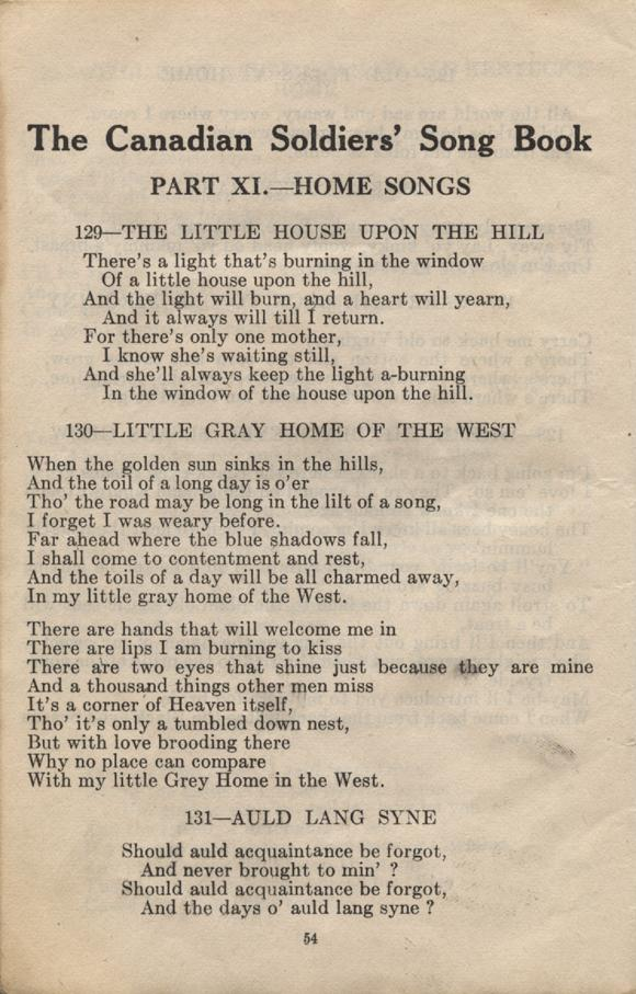 William Daniel Boon. Canadian Soldiers Songbook. Page 54.