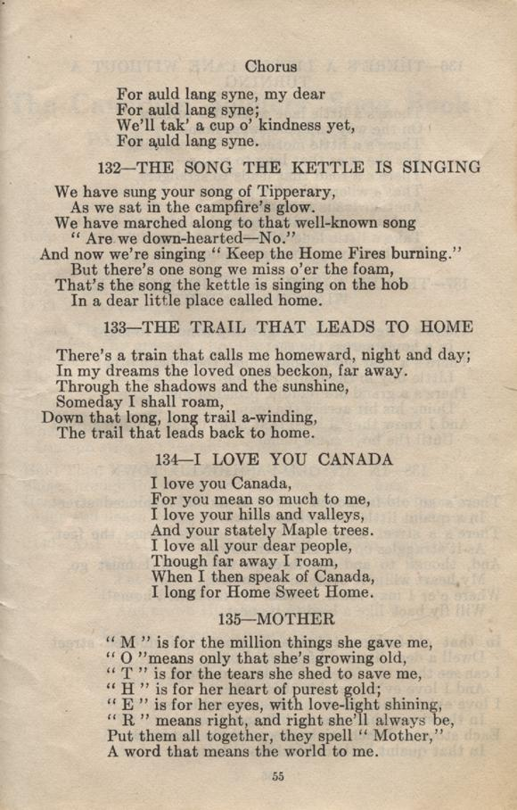 William Daniel Boon. Canadian Soldiers Songbook. Page 55.