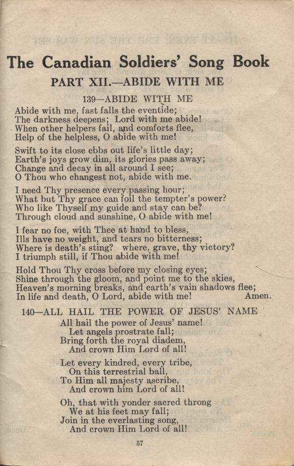 William Daniel Boon. Canadian Soldiers Songbook. Page 57.