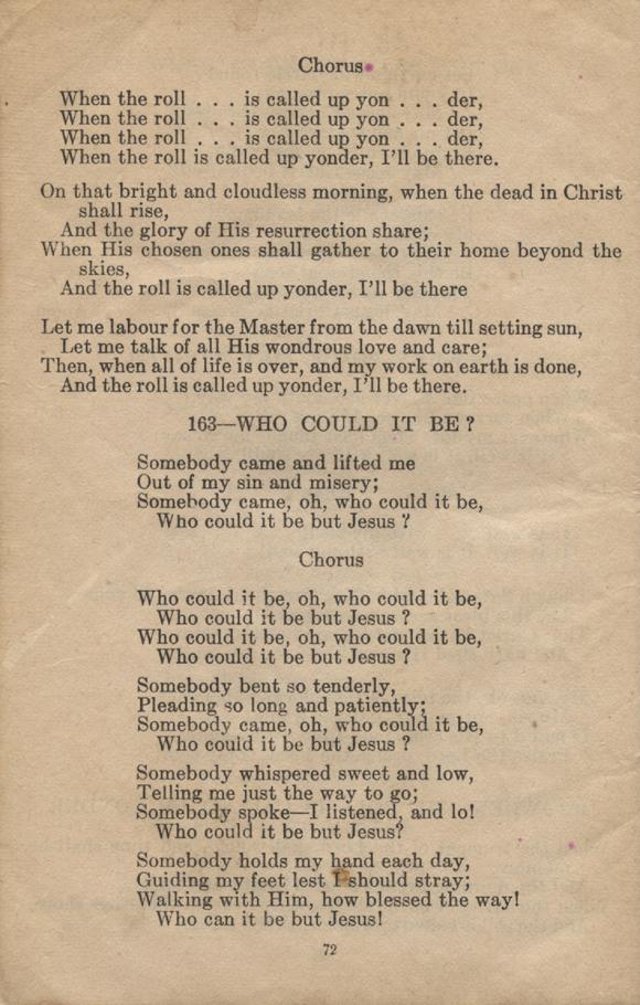 William Daniel Boon. Canadian Soldiers Songbook. Page 72.