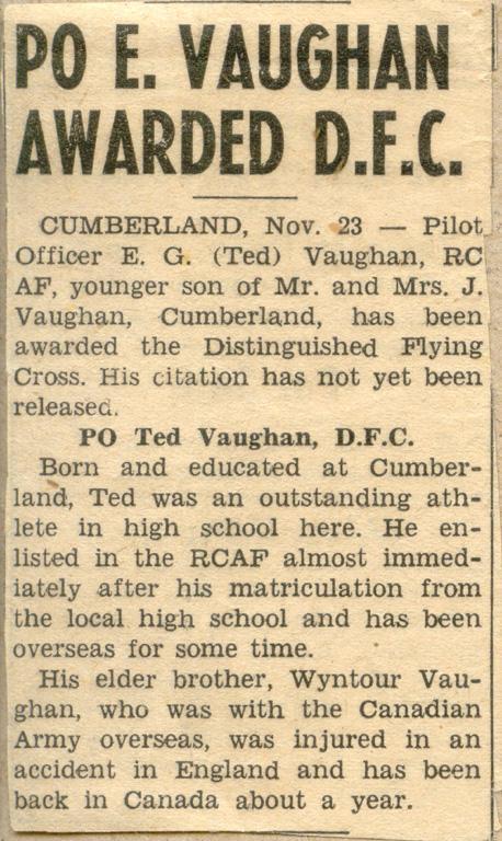 Clipping, November 23, 1944.