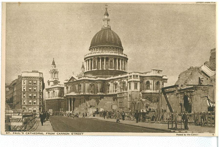 St.Paul's Cathedral from Cannon Street
