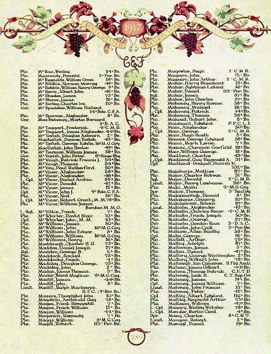 McRobbie, William Book of Remembrance