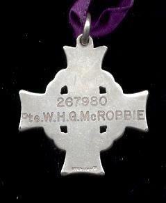 McRobbie, William, Memorial Cross
