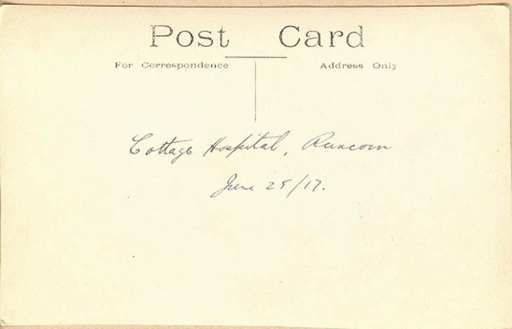 Cottage Hospital, Runcorn June 25, 1917