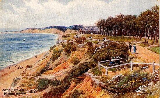 West Cliff Walk Bournmouth Front
