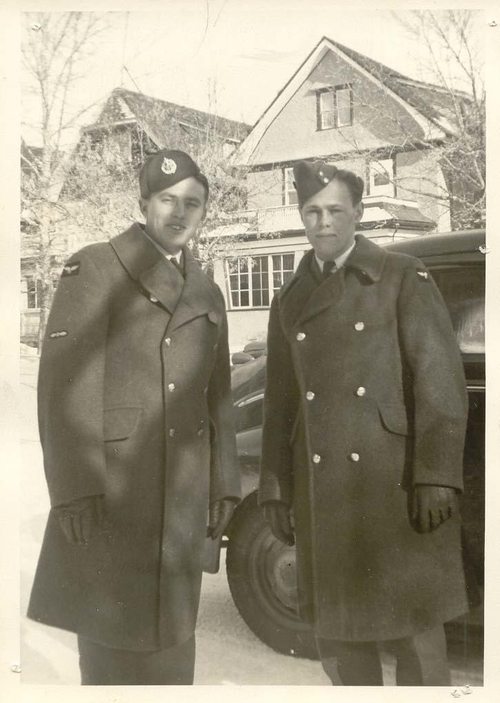 Claude and Glenwood Senton - Regina Sask 1942