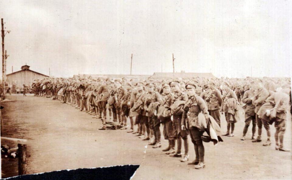 13th Brigade leaving Le Havre.