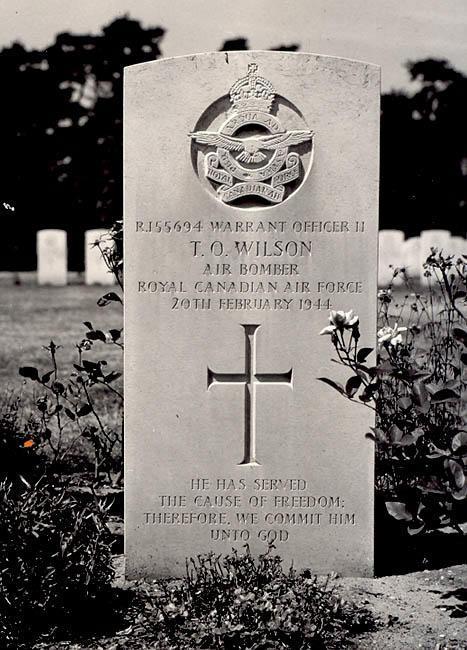 Thomas Orval Wilson's gravestone