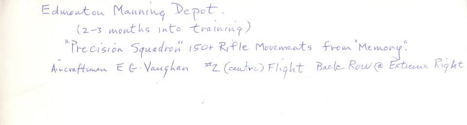 Precision Squadron, Manning Depot, 1942, back.