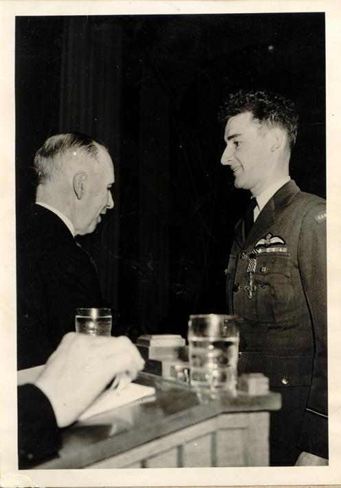 Vaughan receiving the DFC.