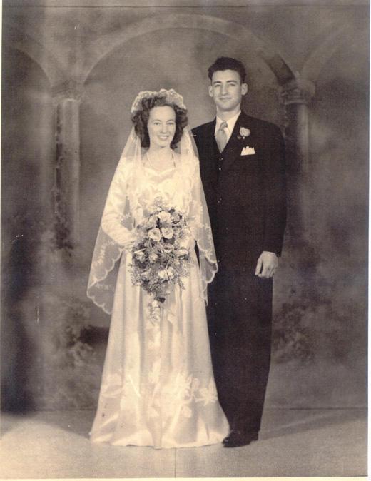 Wedding photo, June 28, 1946.