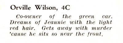 High School yearbook caption - 1941