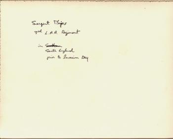 Sergt. Majors. 3rd L.A.A. Regiment - South England March 1944