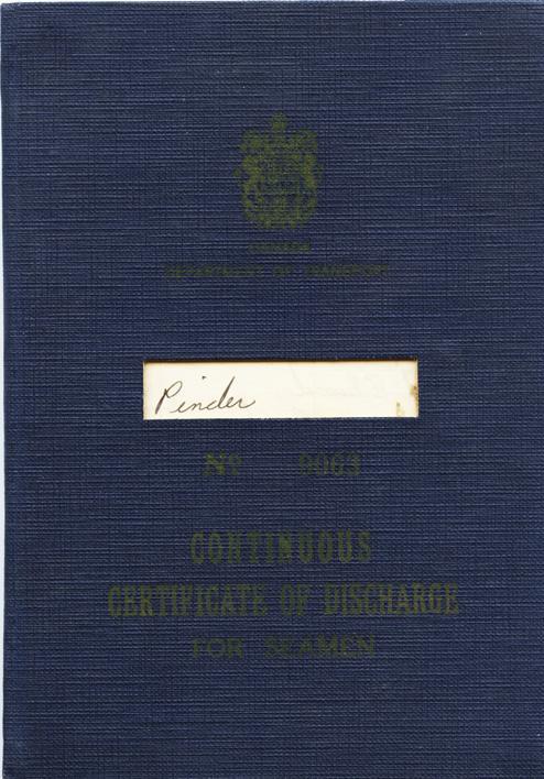 Pinder. Discharge certificate
