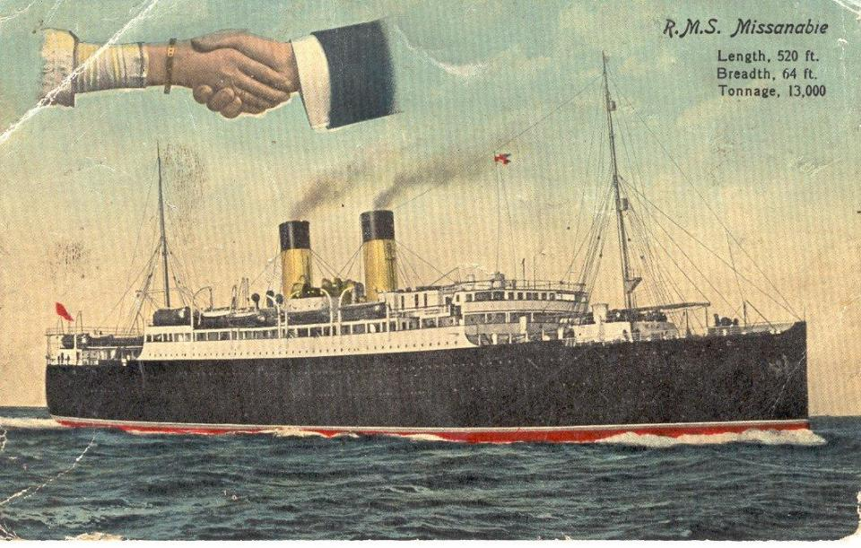 Picture of R.M.S. Missanabie Sept. 15, 1915 Front Only