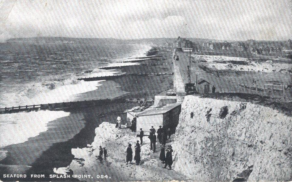 Postcard to Geroge From Mildred Depicting Splash Point at  Seaford, Sussex Sept. 28, 1917 Front
