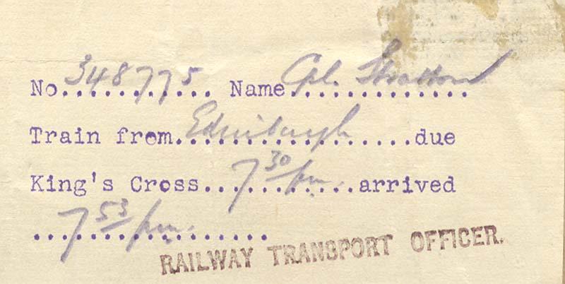 Railway Ticket - Front