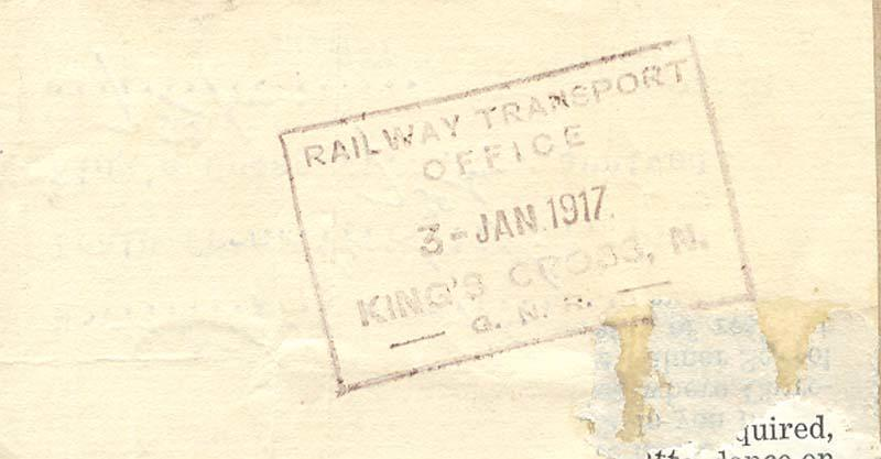 Railway Ticket - Back