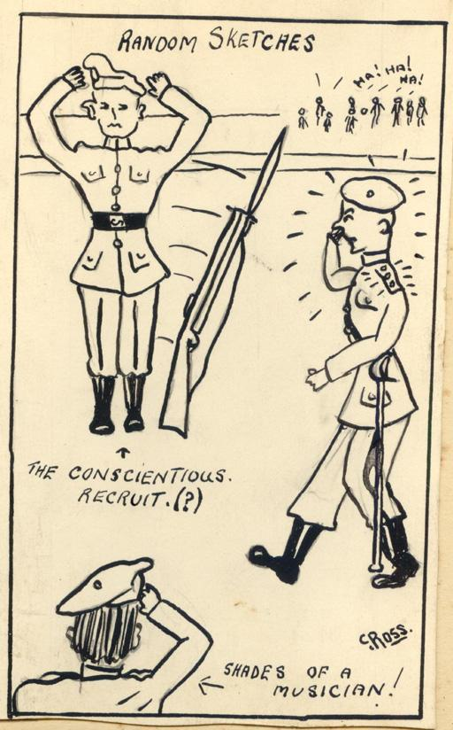#2 Random Sketches by Colin Sewell Ross (Son of James Ross refer WWI collection) ca. WWII