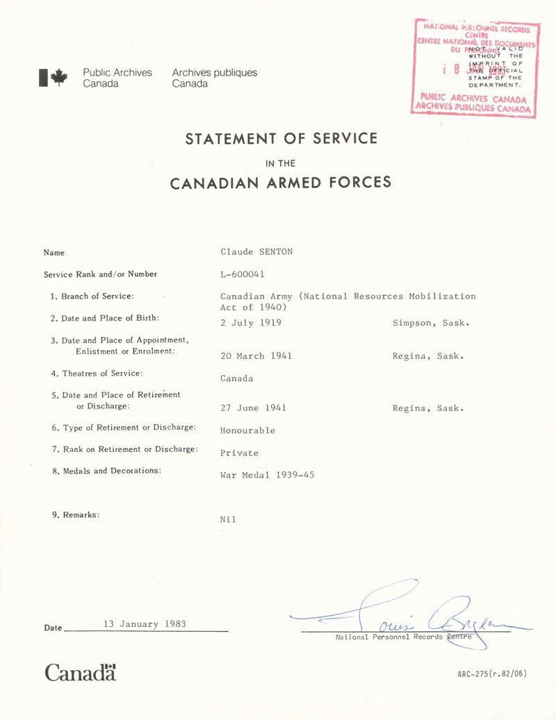 stmt of Service - 2