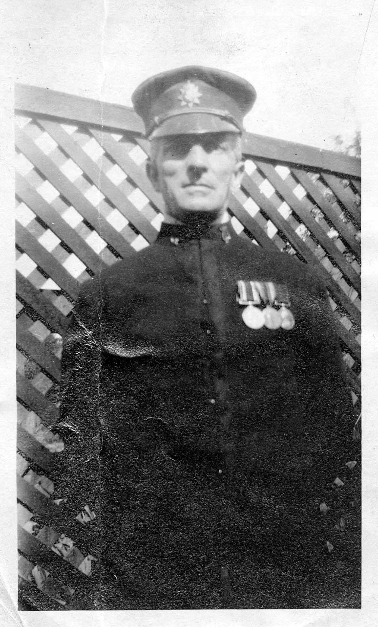 Frank Tilbury in his uniform as a London policeman, 1930s